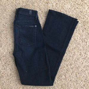 7 For All Mankind kimmie bootcut jeans 24 dark
